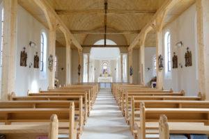 L'intérieur de la nouvelle chapelle